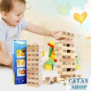 Bộ đồ chơi rút gỗ mini Wiss Toy 54 thanh cho bé, đồ chơi giải trí cho các bạn trẻ BB27-RG54