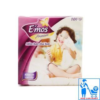 Khăn Giấy Ăn E'mos Premium Gói 100 Tờ