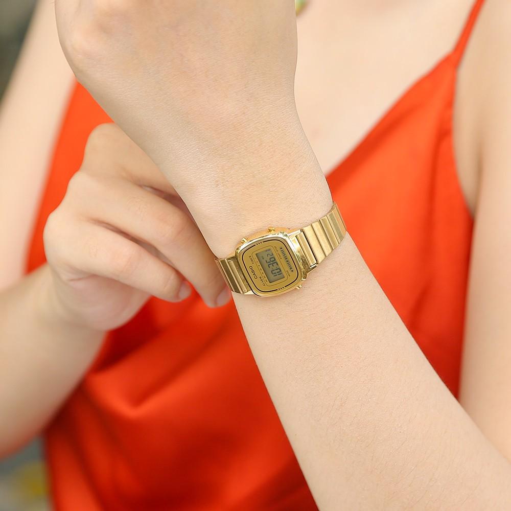 Đồng hồ nữ dây kim loại chính hãng Casio LA670WGA-9DF