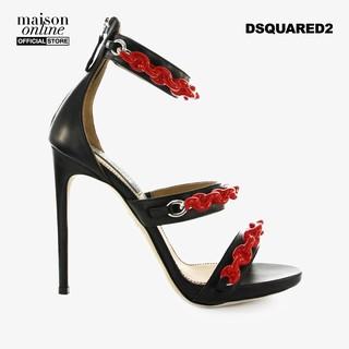 [Mã FASHIONMAL3 hoàn 10% tối đa 100k xu đơn từ 250k] DSQUARED2 - Giày cao gót hở mũi Rubber Chain HSW0097-M002 thumbnail