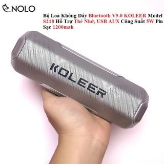 Bộ Loa Không Dây Bluetooth V5.0 KOLEER S218 Hỗ Trợ Thẻ Nhớ, USB AUX Công Suất 5W Pin Sạc 1200mah