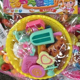 Rổ kem kẹo cho bé