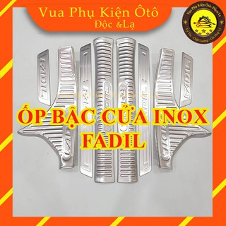Ốp bậc cửa Fadil - Bộ 8 miếng inox trong ngoài ô tô + tặng 2 cuộn 3M thumbnail