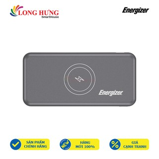 Sạc Dự Phòng kiêm sạc không dây Energizer 10000mAh Li-Polymer QE10007PQ - Hàng chính hãng