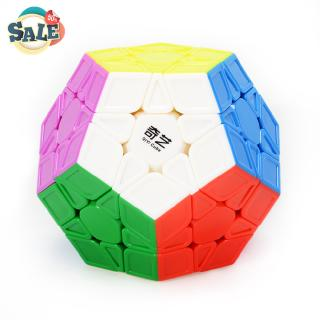 3×3 Megaminx Speed Cube Stickerless Megaminx Dodecahedron Magic Cubes Brain Teaser Puzzle Sculpted