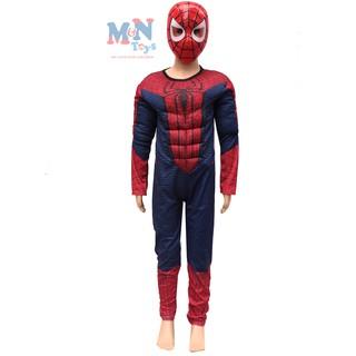 Bộ đồ hóa trang Người nhện Spiderman có cơ bắp kèm mặt nạ dành cho bé từ 4-6 tuổi