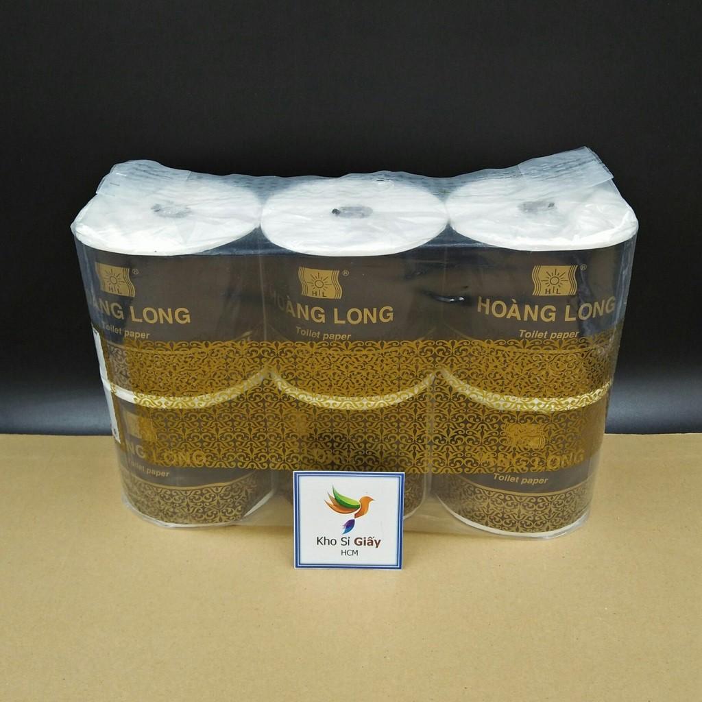[Siêu Rẻ] COMBO 10 LỐC 6 CUỘN GIẤY VỆ SINH HOÀNG LONG - Giấy vệ sinh lụa cao cấp