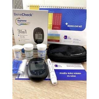 Máy đo đường huyết 3 chức năng 3in1 BENECHECK Supreme Multi-Monitoring Systemm BX-M000 thumbnail
