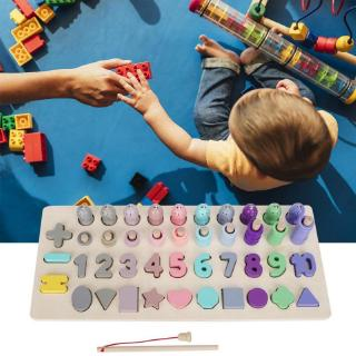 Havashop 4in1 Wooden Pairing Shape Colorful Digital Classification Cognition Learning Educational Toy