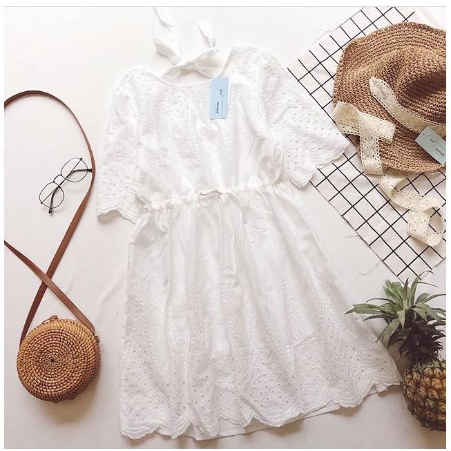 Đầm váy baby doll TRẮNG TINH KHÔI vintage THẮT nơ lưng - 2484984 , 1212521089 , 322_1212521089 , 250000 , Dam-vay-baby-doll-TRANG-TINH-KHOI-vintage-THAT-no-lung-322_1212521089 , shopee.vn , Đầm váy baby doll TRẮNG TINH KHÔI vintage THẮT nơ lưng