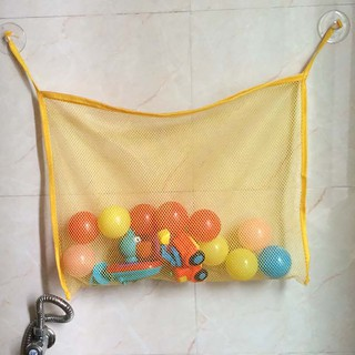 Children Bathing Toy Storage Bag Baby Mesh Toy Bag Powerful Suction Cup Pouch Peach Bag
