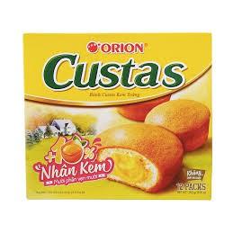 Bánh Custas Orion Nhân Kem Trứng Cao Cấp 12 Cái 282g