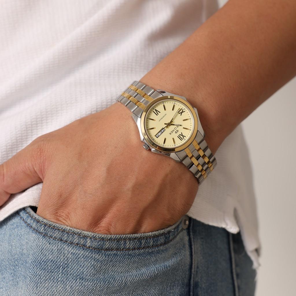 [Mã FARSBRLMY giảm 10% đơn 250K] Đồng hồ Nam Hegner Strong Enduring Sliver 8001MC - Lamy watch