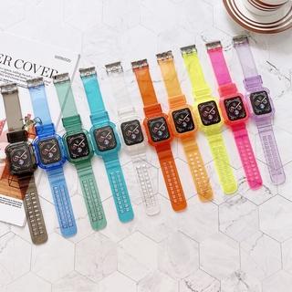 Dây Đeo Trong Suốt Cho Đồng Hồ Thông Minh Apple Watch Series 6 Se 5 4 3 2 1 38mm 40mm 42mm 44mm