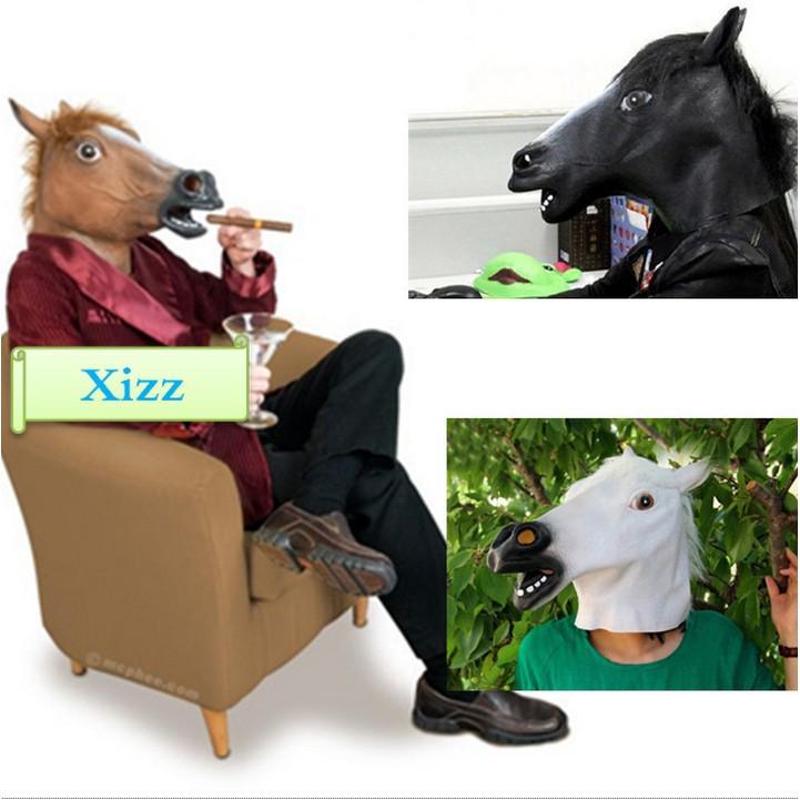 Mặt nạ hóa trang hình đầu ngựa nhân dịp halloween mặt nạ halloween