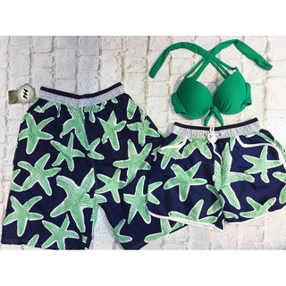 Set cặp quần nữ sao biển xanh kèm áo mặc đi biển đẹp ( Đảm bảo như hình)- Mới nhất