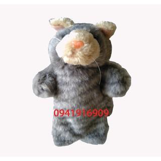 Rối tay mèo vằn xám