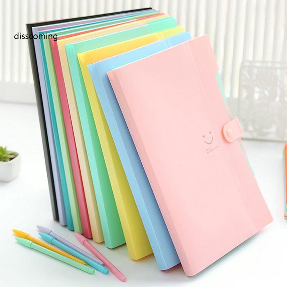 Bìa đựng hồ sơ A4 nhiều ngăn bằng nhựa cao cấp kích thước 32.5cm x 24.5cm tiện lợi