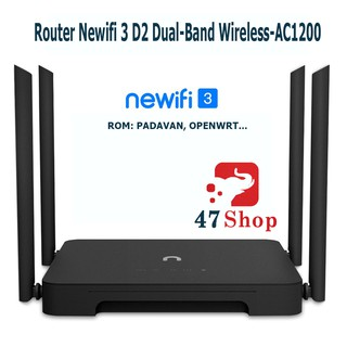 Yêu ThíchBộ phát Router Wifi Newifi 3 D2 AC1200 - Rom PADAVAN OPENWRT Tiếng Anh