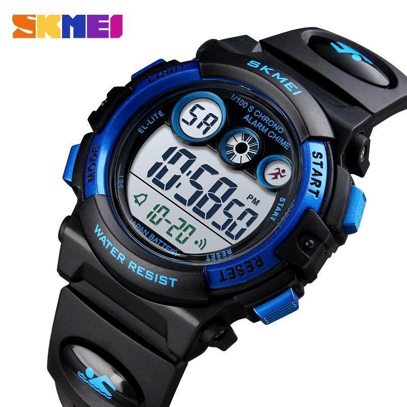 SKMEI ชมแฟชั่นเด็ก เรืองแสงนาฬิกาปลุกโครโนกราฟนาฬิกาข้อมือดิจิตอล แบรนด์ชั้นนำ 50M นาฬิกาสปอร์ตกันน้ำ 1451