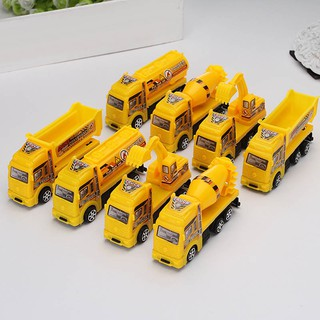 Kids Engineering Van Truck Toys Set Navvy Concrete Load Carrier Toys Set