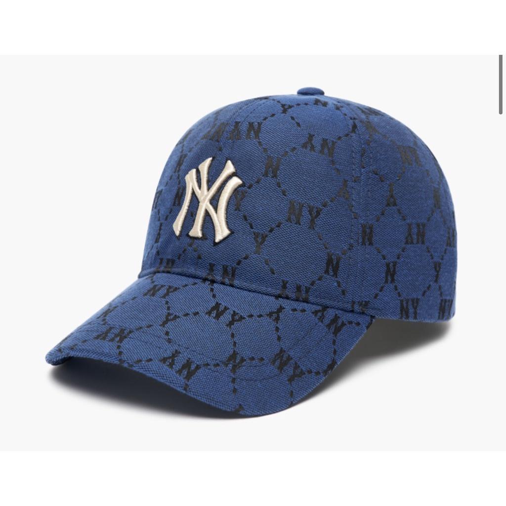 Mũ MLB dia monogram xanh Ny