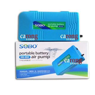 Sủi chạy pin Sobo SB960 Battery Air Pump Single Outlet máy sủi oxy sạc điện, máy bơm oxy chạy pin
