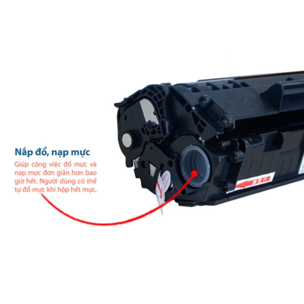 Hộp mực máy in Canon 2900,3000- Loại Có lỗ đổ mực siêu tiện lợi, TẶNG KÈM 1 chai mực đổ Giá chỉ 152.250₫
