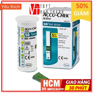 [50 QUE] Que Thử Đường Huyết Accu Chek Active (AccuChek - Accu-Chek) Date Xa - VT0056 thumbnail