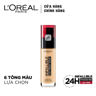 Kem nền mịn nhẹ lâu trôi L'oreal Paris Infallible 24h Fresh Wear Liquid Foundation30ml