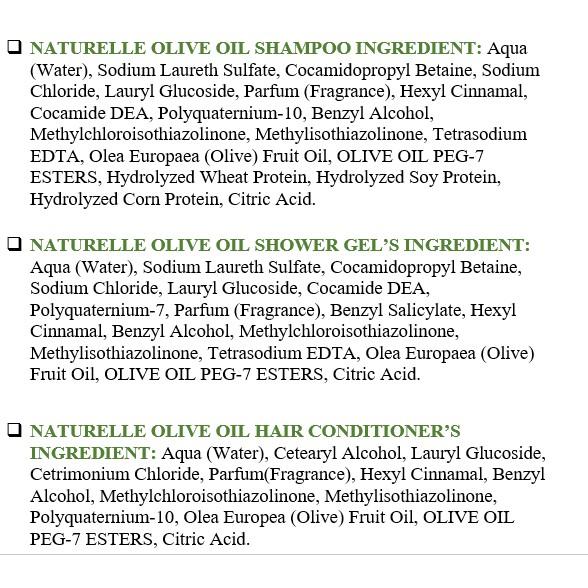 Hình ảnh [Combo3] Dầu Gội & Dầu Xả & Sữa Tắm Chiết Xuất Olive Farmasi 375ml/chai-5