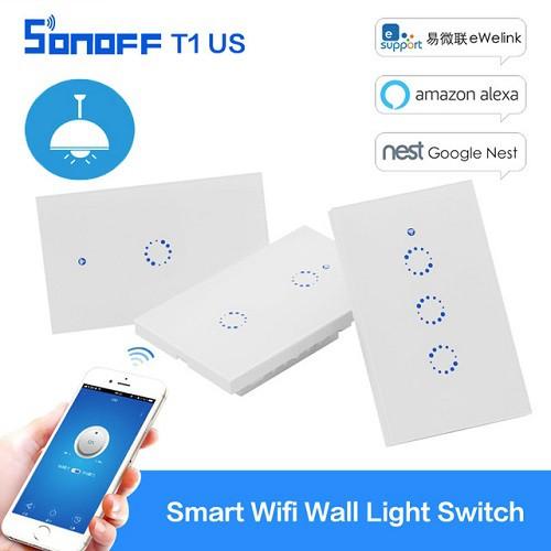 Công Tắc Cảm Ứng Điều Khiển Qua Mạng Wifi Sonoff T1 US 3C (3 Nút)