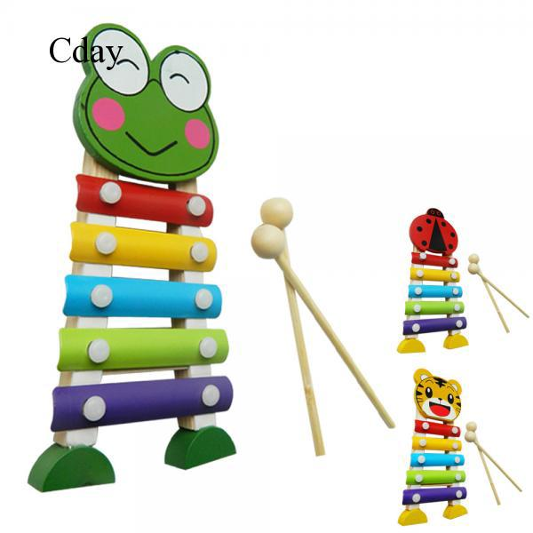 Cday Wood Standing Musical Xylophone Knocking Music Instrument Knocking