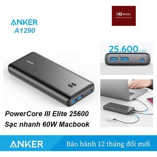 Pin ANKER PowerCore III Elite 25600 sạc nhanh 60W Mabook - Mã A1290 thumbnail