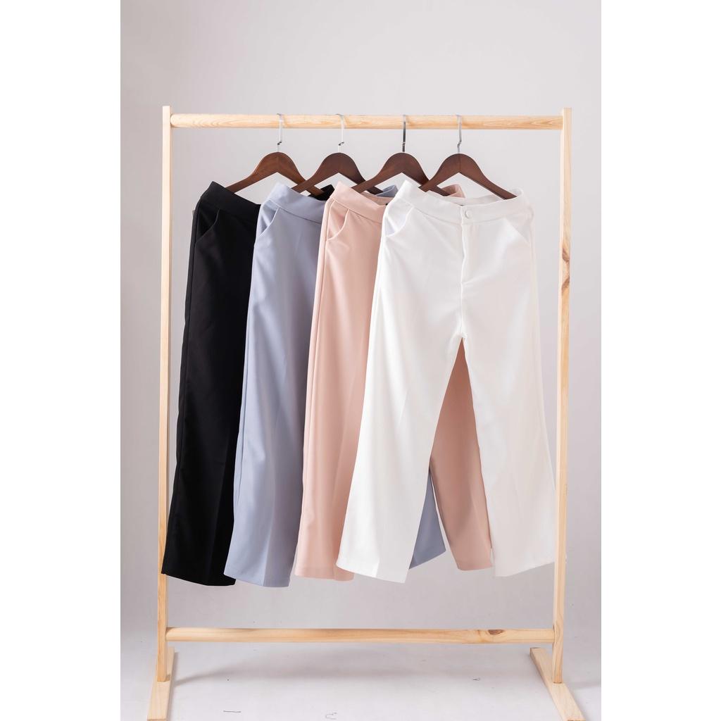 Mặc gì đẹp: Đẹp với Quần ống rộng lưng cao mẫu mới siêu tôn dáng dành cho nữ - Quần tây công sở dễ phối đồ hợp đi chơi , đi biển đi làm