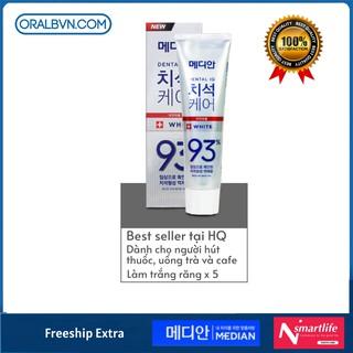 Kem Đánh Răng Hàn Quốc Median 93% 120g màu trắng LÀM TRẮNG RĂNG, siêu trắng, trắng gấp 5 lần kem đánh răng thông thường