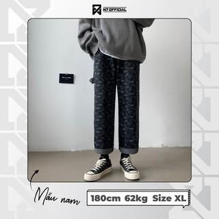 Hình ảnh Quần Jeans Suông Paileys unisex N7 Basic nam nữ ống rộng oversize phong cách Hàn Quốc ulzzang-1