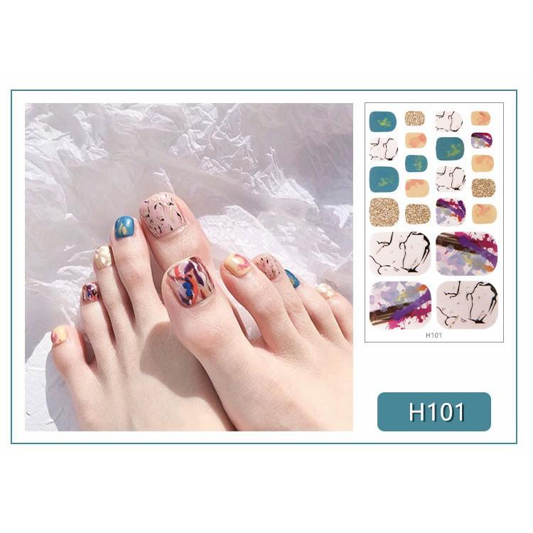 Bộ miếng dán móng tay chân trang trí 3D (H101-H120)