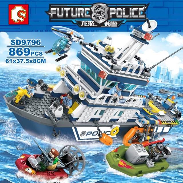 Lego SD9796- Tàu tuần tra của cảnh sát