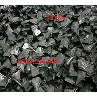 Bộ 20 chiếc 13×26 nắp chụp đầu sắt hộp hàng rào cửa cổng, mũ nhọn, mác sắt, chông gai 13×26