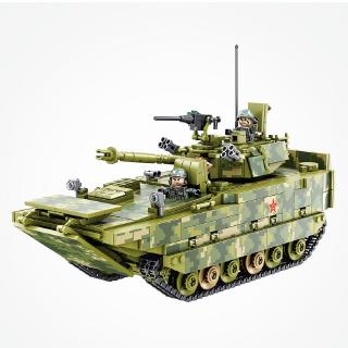 Armored Tank ww2 1208pcs Building Blocks Compatible With LEGO Military force weapon model Infantry Fighting