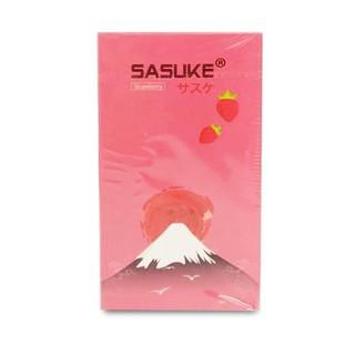 Bao cao su Sasuke siêu mỏng Không hương, hương Vani, hương Dâu ( hộp 10 cái ) thumbnail