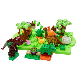 (Clearance)Dinosaur Jurassic Theme Plastic Building Block Toy for Kids Set of 40