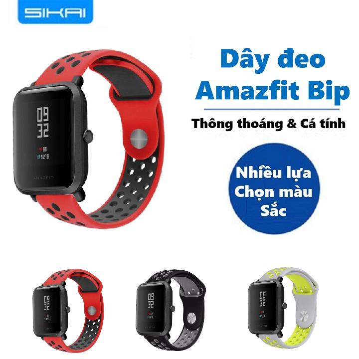 Dây thay thế silicon cho Amazfit Bip -Dây đeo thay thế Amazfit Bip -Dây đeo Sikai cho Amazfit Bip