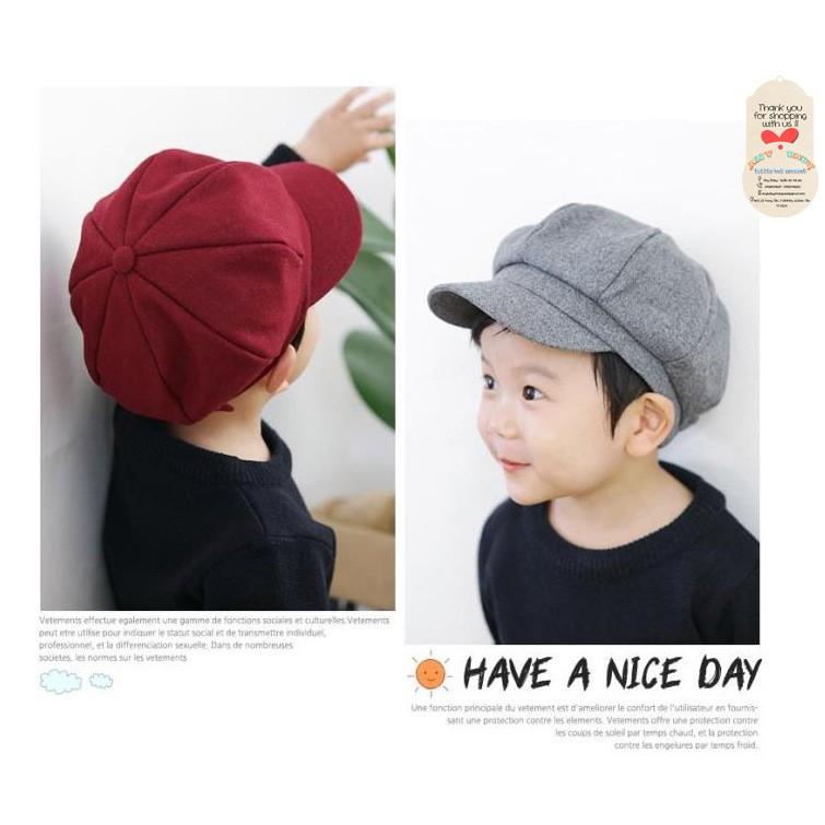 Nón mũ bánh tiêu-nón mũ Beret|Bê rê cho bé trai bé gái ❣❣