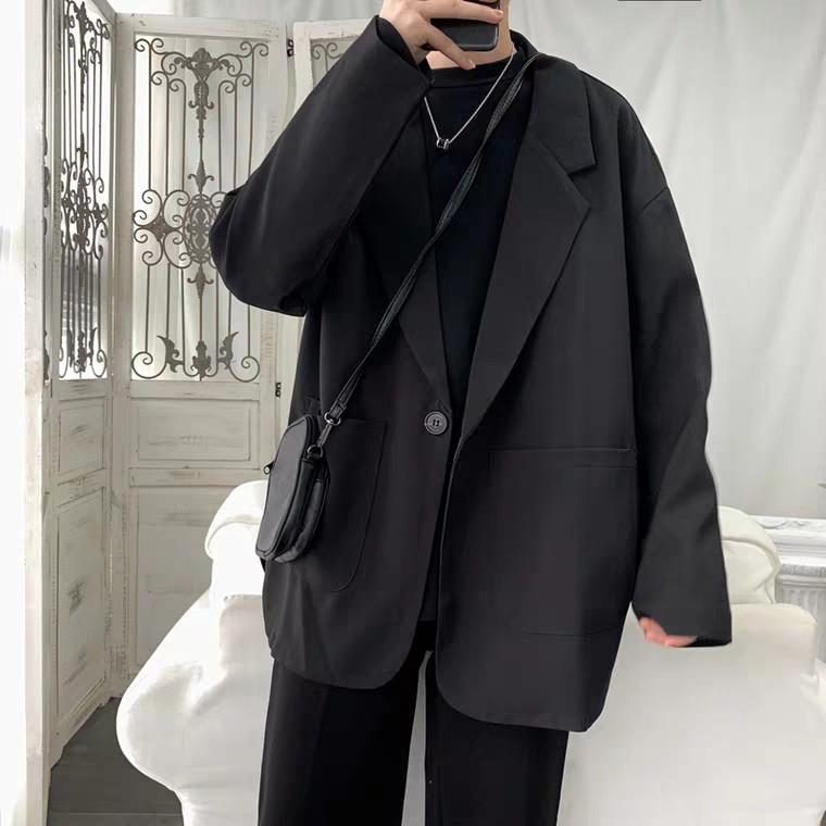 Áo blazer vest nam phong cách Hàn Quốc vạt tròn