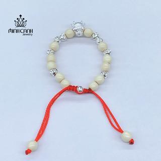 [Mã MCJ20 giảm 20K đơn từ 199K] Vòng Dâu Tằm Charm Con Trâu 7 Bi và 9 Bi Bạc Cho Bé - Minh Canh Jewelry thumbnail