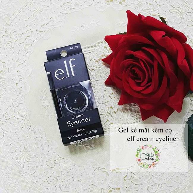 Gel kẻ mắt kèm cọ elf Cream Eyeliner 4.7g