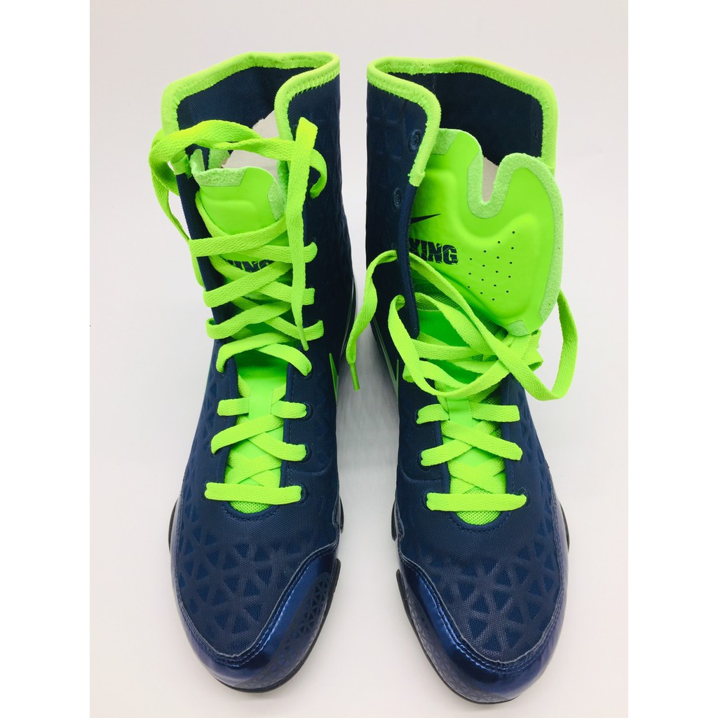 Giay boxing Nike KO dark blue/green wire -839421 413