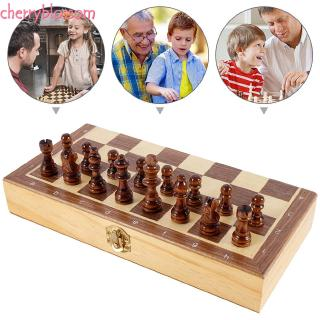 ❥Cherry Toys Chess wooden Set Magnetic Board crafts folding chess board game Travel